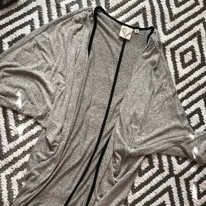 womens gray cardigan